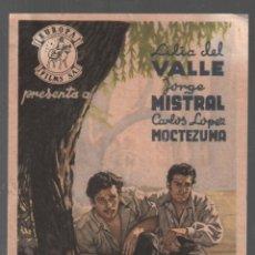 Flyers Publicitaires de films Anciens: PEREGRINA / PROGRAMA EUROPA FILMS CON PUBLICIDAD RF-2264. Lote 159477206