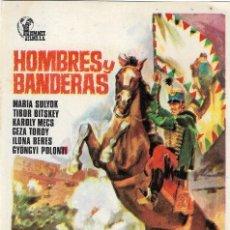 Cine: PROGRAMA DE CINE - HOMBRES Y BANDERAS - MARIA SULYOK, TIBOR BITSKEY - SIN PUBLICIDAD.. Lote 159622006