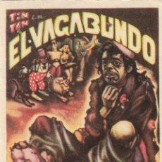 Cine: PROGRAMA DE CINE - EL VAGABUNDO - TIN-TAN, AURORA SEGURA - 1953 - SIN PUBLICIDAD.. Lote 159624206
