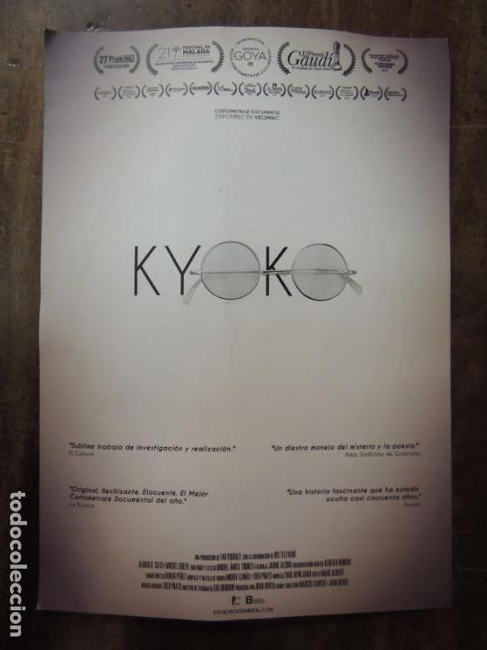KYOKO - FOLLETO DE MANO ORIGINAL - CORTOMENTAJE DOCUMENTAL YOKO ONO JOHN LENNON BEATLES (Cine - Folletos de Mano - Documentales)