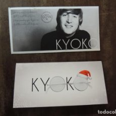 Folhetos de mão de filmes antigos de cinema: KYOKO - FOLLETO MANO ORIGINAL FELICITACION - CORTOMENTAJE DOCUMENTAL YOKO ONO JOHN LENNON . Lote 159662746