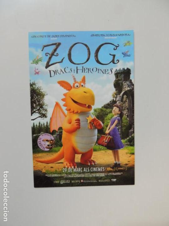 ZOG DRACS I HEROINES - FOLLETO MANO ORIGINAL EN CATALAN - ANIMACION IMPRESO DETRAS (Cine - Folletos de Mano - Infantil)