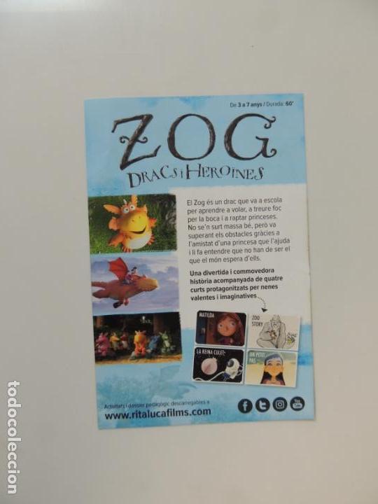 Cine: zog dracs i heroines - folleto mano original en catalan - animacion impreso detras - Foto 2 - 159684126