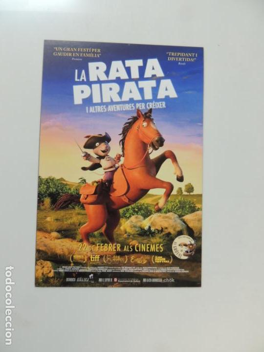 LA RATA PIRATA - FOLLETO MANO ORIGINAL EN CATALAN - ANIMACION IMPRESO DETRAS (Cine - Folletos de Mano - Infantil)