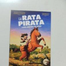 Cinema - la rata pirata - folleto mano original en catalan - animacion impreso detras - 159684258