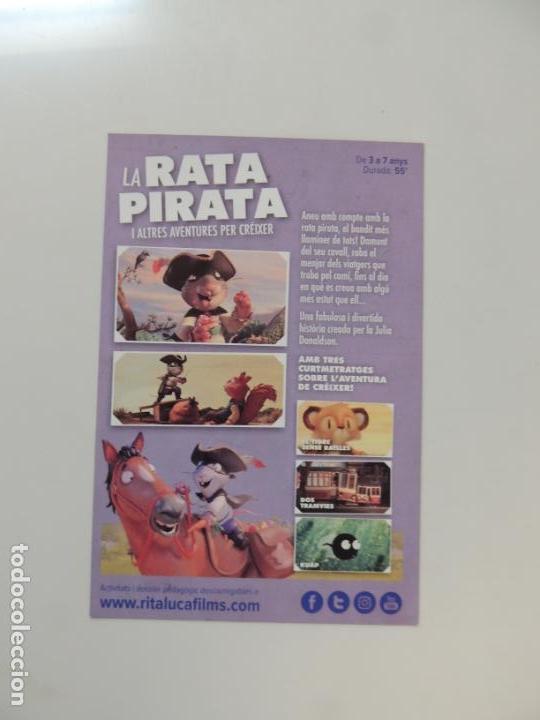 Cine: la rata pirata - folleto mano original en catalan - animacion impreso detras - Foto 2 - 159684258