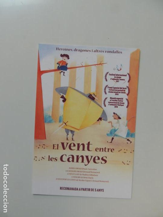 EL VENT ENTRE LES CANYES - FOLLETO MANO ORIGINAL EN CATALAN - ANIMACION IMPRESO DETRAS (Cine - Folletos de Mano - Infantil)