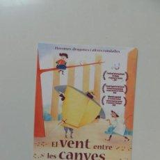 Cinema - el vent entre les canyes - folleto mano original en catalan - animacion impreso detras - 159684390