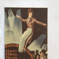 Cine: LA MELODIA DE BROADWAY 1936 PROGRAMA DOBLE MGM ROBERT TAYLOR ELEANOR POWELL JACK BENNY B. 1936. Lote 159905998