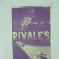 Cine: PROGRAMA DOBLE SIN PUBLICIDAD. RIVALES. CHARLES BICKFORD. Lote 159962898