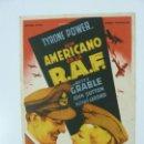 Cine: PROGRAMA. UN AMERICANO EN LA R.A.F. TYRONE POWER. S/P. Lote 160070030