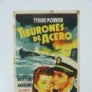 Cine: PROGRAMA. TIBURONES DE ACERO. TYRONE POWER. C/P. Lote 160070810