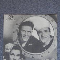 Foglietti di film di film antichi di cinema: PROGRAMA DE CINE DOBLE: LEVANDO ANCLAS PUBLICIDAD - FRANK SINATRA GENE KELLY. Lote 160139466