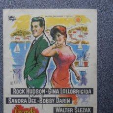 Foglietti di film di film antichi di cinema: PROGRAMA DE CINE: CUANDO LLEGUE SEPTIEMBRE CINE PALAFOX ZARAGOZA. Lote 160139478