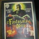 Cine: PROGRAMA DE CINE -CARTEL. EL FANTASMA DE LA OPERA . 50 X 27 CM. 1962. . Lote 160144238