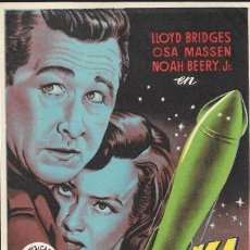 Cine: PROGRAMA DE CINE - COHETE K-1 - LLOYD BRIDGES, OSA MASSEN - 1950 - SIN PUBLICIDAD.. Lote 160156142