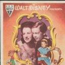 Cine: PROGRAMA DE CINE - WALT DISNEY - CANCIÓN DEL SUR - RKO RADIO FILMS - 1946 - SIN PUBLICIDAD.. Lote 160157734