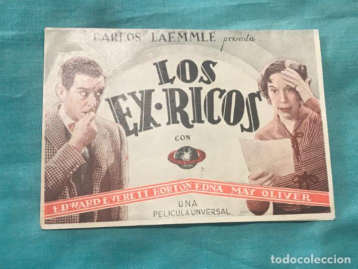 LOS EX RICOS. DOBLE SIN PUBLICIDAD, ORIGINAL. EXCELENTE ESTADO DE CONSERVACIÓN (Cine - Folletos de Mano - Comedia)