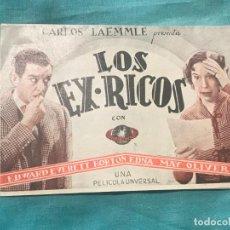Cine: LOS EX RICOS. DOBLE SIN PUBLICIDAD, ORIGINAL. EXCELENTE ESTADO DE CONSERVACIÓN. Lote 160158042