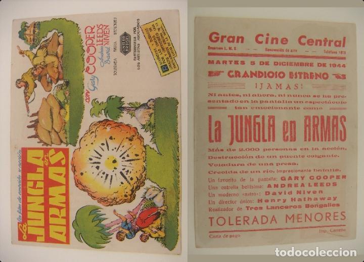 PROGRAMA DE CINE LA BUENAVENTURA 1944 PUBLICIDAD CINE CENTRAL ORIGINAL (Cine - Folletos de Mano - Bélicas)