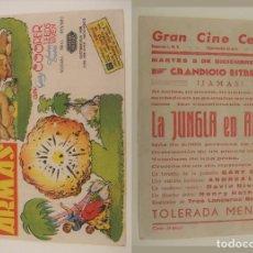 Cine: PROGRAMA DE CINE LA BUENAVENTURA 1944 PUBLICIDAD CINE CENTRAL ORIGINAL. Lote 160214578