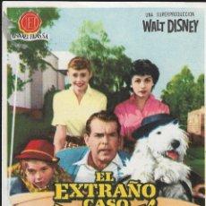 Cine: PROGRAMA DE CINE - EL EXTRAÑO CASO DE WILBY - WALT DISNEY - 1959 - SIN PUBLICIDAD.. Lote 160227914
