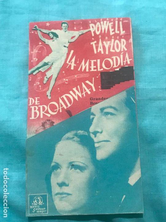 LA MELODIA DE BROADWAY, ELEANOR POWELL, ROBERT TAYLOR, SIN CINE (Cine - Folletos de Mano - Musicales)