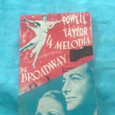 Cine: LA MELODIA DE BROADWAY, ELEANOR POWELL, ROBERT TAYLOR, SIN CINE. Lote 160236142