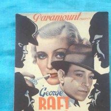 Cine: LA LLAVE DE CRISTAL 1939 GEORGE RAFT PARAMOUNT CON PUBLICIDAD . Lote 160239962