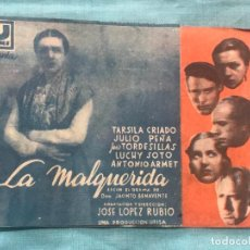 Cine: PROGRAMA DOBLE LA MALQUERIDA-LUCHY SOTO - J.TORDESILLAS CON SELLO. Lote 160240194