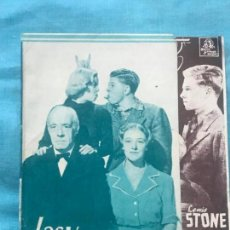 Cine: LAS VACACIONES DEL JUEZ HARVEY - PROGRAMA DE MANO DOBLE - AÑO 1937 SIN PUBLICIDAD. Lote 160241010