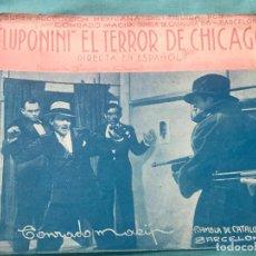 Cine: PROGRAMA DE CINE . LUPONINI EL TERROR DE CHICAGO. VARIACION COLOR. Lote 160247830