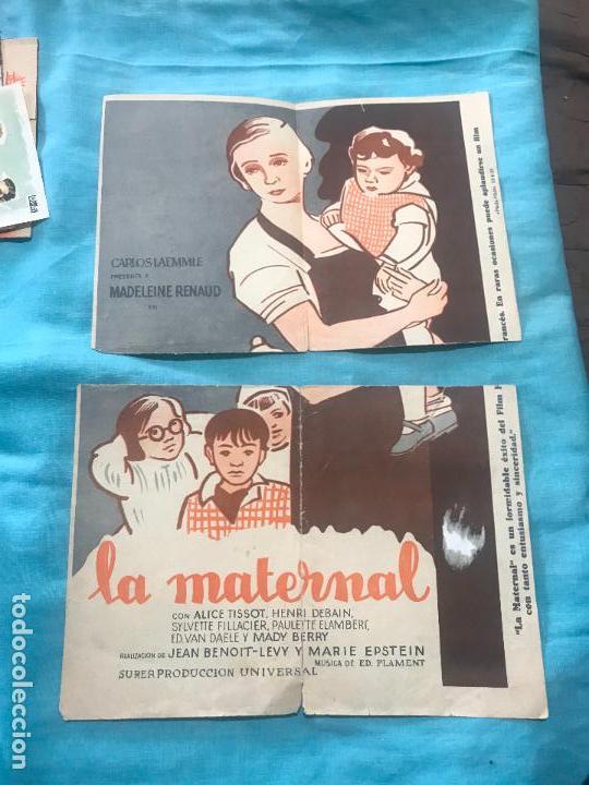 Cine: LA MATERNAL FOLLETO DE MANO TAMAÑO GRANDE - AÑO 1933 - Foto 3 - 160248126