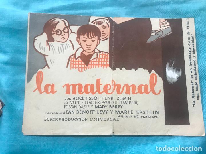 Cine: LA MATERNAL FOLLETO DE MANO TAMAÑO GRANDE - AÑO 1933 - Foto 5 - 160248126