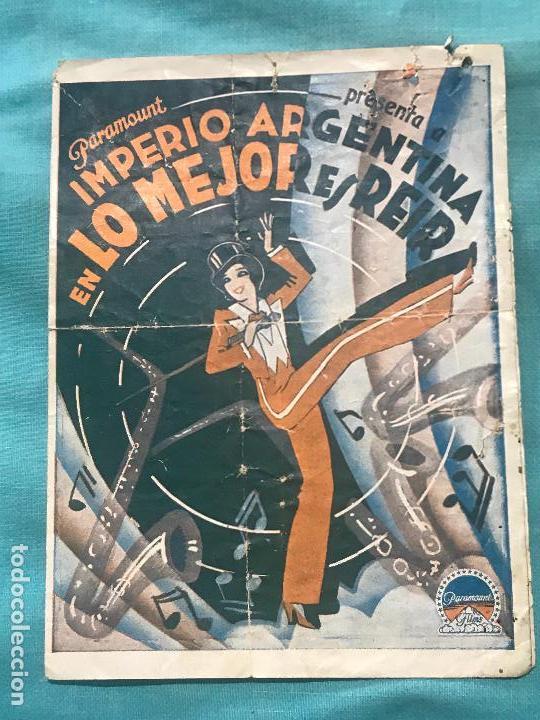 LO MEJOR ES REIR IMPERIO ARGENTINA FOLLETO DE MANO ORIGINAL ESTRENO CON CINE IMPRESO (Cine - Folletos de Mano - Drama)