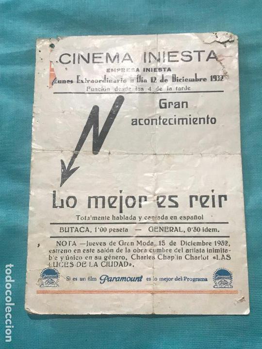 Cine: lo mejor es reir imperio argentina folleto de mano original estreno con cine impreso - Foto 3 - 160250158