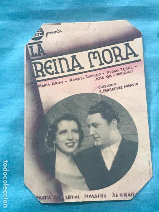 LA REINA MORA - CINE ECHEGARAY - AÑO 1939 SIN PUBLICIDAD (Cine - Folletos de Mano - Clásico Español)