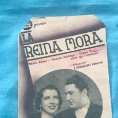 Cine: LA REINA MORA - CINE ECHEGARAY - AÑO 1939 SIN PUBLICIDAD. Lote 160270726