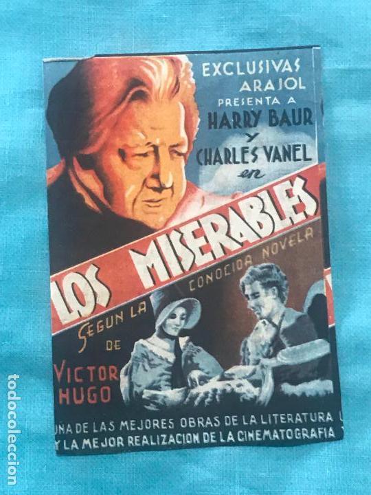 FOLLETO DE CINE LOS MISERABL CON PUBLICIDAD (Cine - Folletos de Mano - Drama)
