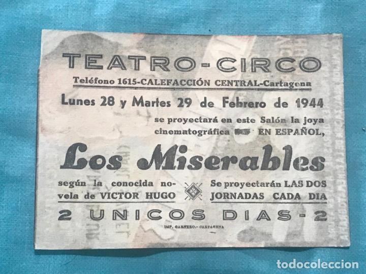 Cine: FOLLETO DE CINE LOS MISERABL con publicidad - Foto 2 - 160276926