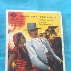 Cine: FOLLETO DE MANO. FOLLETO DEL FILM LA BLANCA PALOMA SIN PUBLICIDAD. Lote 160290850