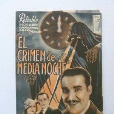 Cine: PROGRAMA DOBLE. EL CRIMEN DE MEDIANOCHE. RAMÓN PEREDA. S/P. Lote 160292466