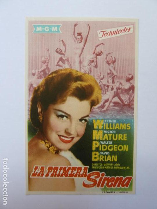 PROGRAMA. LA PRIMERA SIRENA. ESTHER WILLIAMS. S/P (Cine - Folletos de Mano - Musicales)