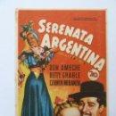 Cine: PROGRAMA. SERENATA ARGENTINA. DON AMECHE. S/P. Lote 160294078