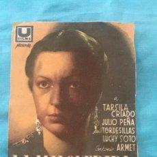 Cine: LA MALQUERIDA-TÁRSILA CRIADO-LÓPEZ RUBIO-JACINTO BENAVENTE-TAMAÑO GRANDE CON PUBLI. Lote 160294938