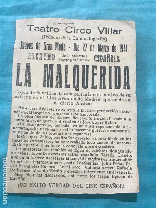 Cine: LA MALQUERIDA-TÁRSILA CRIADO-LÓPEZ RUBIO-JACINTO BENAVENTE-TAMAÑO GRANDE con publi - Foto 2 - 160294938