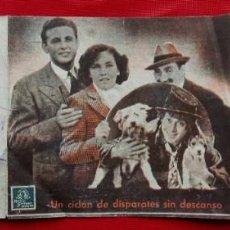 Cine: LOS HERMANOS MARX. UN DÍA EN LAS CARRERAS. TRÍPTICO. CON PUBLICIDAD. BURGOS. COLISEO CASTILLA. . Lote 160298330