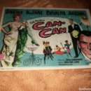 Cine: PROGRAMA DE CINE. CAN CAN. CON PUBLICIDAD CINE CERVANTES DE VILLENA (ALICANTE). Lote 160307901