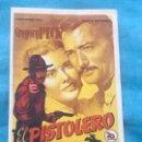 Cine: PROGRAMA DE CINE. EL PISTOLERO CON PUBLICIDAD. Lote 160340626