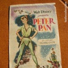 Cine: PROGRAMA DE MANO DE DISNEY PETER PAN. Lote 160352214